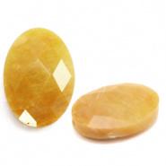 Kraal geel mixed ovaal half edelsteen