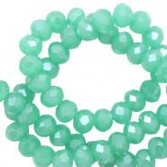 Facetkraal groen emerald licht 6x4 mm 100 stuks