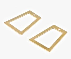 Bedel asymmetrische rechthoek goud donker