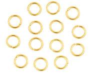 Open ring goudkleurig 6 mm 115 stuks