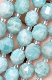 Natuursteen kraal blauw Amazonite 8 mm facet