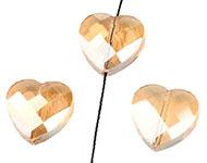Facetkraal goud topaz licht hart
