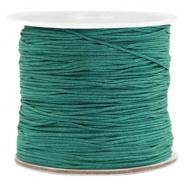 Macramé draad groen emerald 0,7 mm