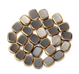 Glaskraal zwart goud