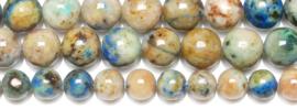 Natuursteen kraal blauw bruin Chrysocolla 6 mm
