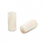Schelp kraal beige cream 8x4 mm tube
