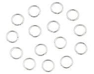 Open ring zilver 8 mm 80 stuks donker