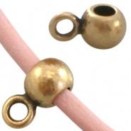 Kraal met oogje brons Ø 2,2 mm DQ