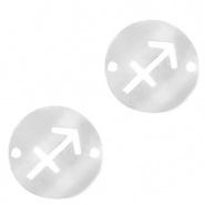 Bedel / tussenstuk sterrenbeeld Boogschutter zilver RVS