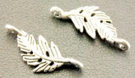 Bedel / connector / tussenstuk blad zilver