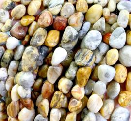 Natuursteen nugget kralen Crazy Agate 10 stuks 8-12 mm