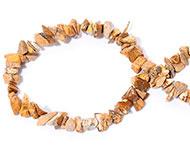 Chips stone kralen bruin mixed 25 stuks