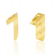 Cijferkraal 1 goudkleurig RVS