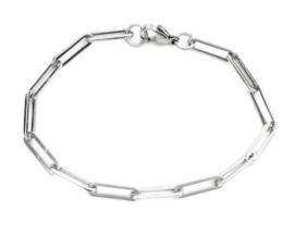 Armband 20 cm zilver RVS schakelarmband