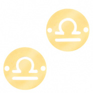 Bedel / tussenstuk sterrenbeeld Weegschaal goudkleurig RVS
