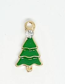 Bedel kerstboom goud groen strass