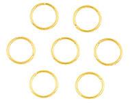 Open ring goudkleurig 10 mm 50 stuks