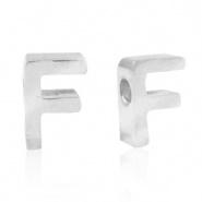 Initiaal letterkraal RVS F zilver