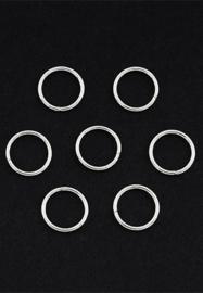 Open ring zilver 12 mm 35 stuks