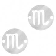 Bedel / tussenstuk sterrenbeeld Schorpioen zilver RVS
