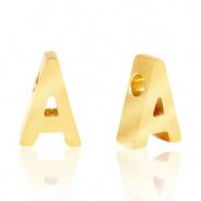 Initiaal letterkraal RVS A goud