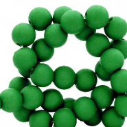 Acryl kraal groen fir 4 mm parel matt