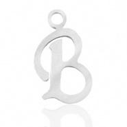 Bedel initial letter B RVS zilver