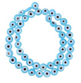 Evil eye kralen blauw 7 mm glas