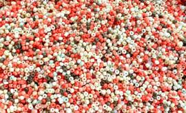 Rocailles mix Ibiza koraal 3mm