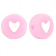 Hartjes kraal roze soft