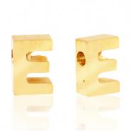 Initiaal letterkraal RVS E goud