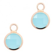 Crystal glas hanger blauw turquoise rosegold