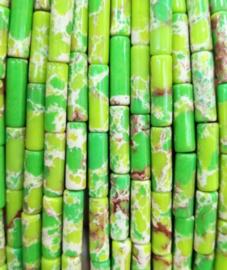 Natuursteen kralen tubes groen licht