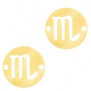 Bedel / tussenstuk sterrenbeeld Schorpioen goudkleurig RVS