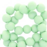 Acryl kraal groen ash 4 mm parel matt