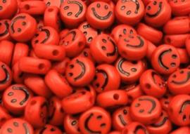Letterkraal smiley rood 7 mm