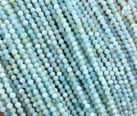 Natuursteen kraal blauw Amazonite 3 mm facet
