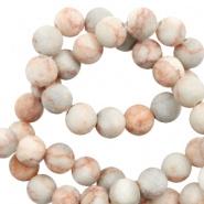 Natuursteen kraal roze grey mat 6 mm