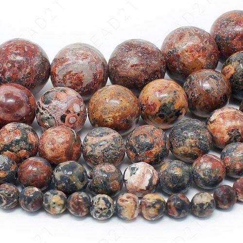 Natuursteen kraal rood bruin geel 4 mm