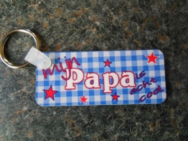 sleutelhanger rechthoek papa