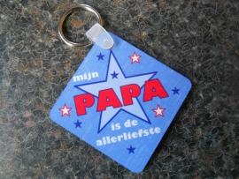 sleutelhanger vierkant voor papa