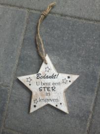 U bent een ster in lesgeven
