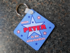 sleutelhanger vierkant peter
