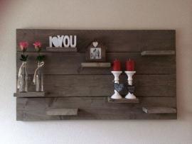 Wandbord met plankjes
