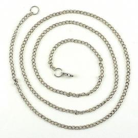 Metalen halskettingen met slotje ± 80cm (± 3mm dik)
