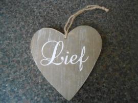 houten hart 14 cm
