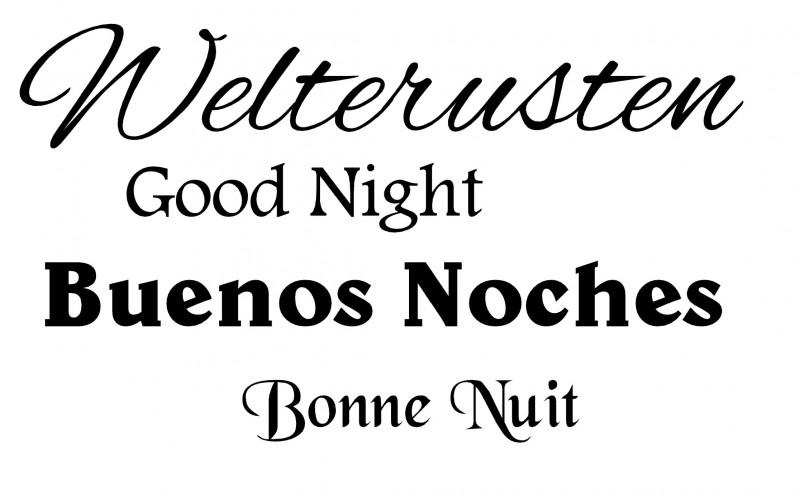Welterusten in 4 talen