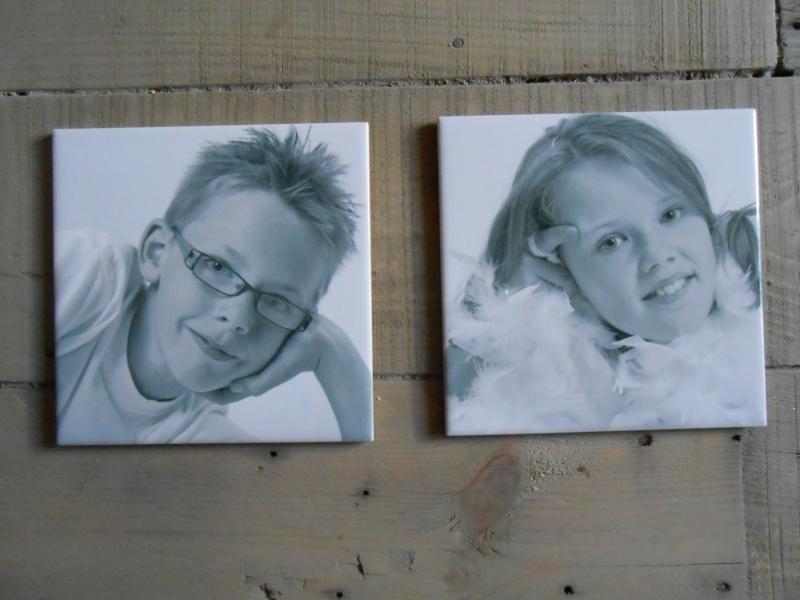 Tegeltje met eigen foto 15 x 15