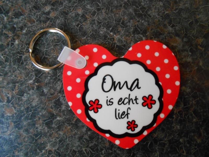 sleutelhanger hart oma