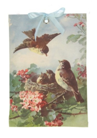 Geurzakje Vogels in nest (cherry blossem) 17x11,5cm